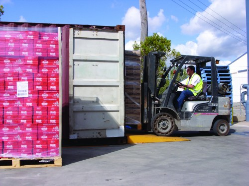 ForkLift-InPacking-Conatiner